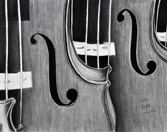 Twin Violin 8x10 print