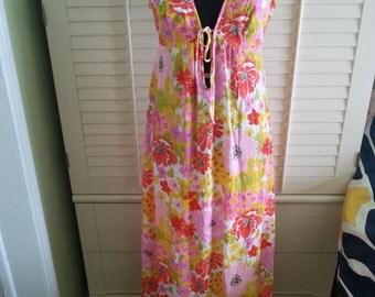 Vintage 1970's lingerie, vintage lingerie, 1970's hippie lingerie, 1970's flower lingerie, A10