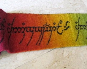 Lord of the Rings knitted scarf