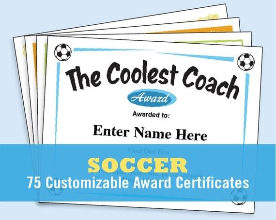 Soccer certificates soccer awards templates child for Soccer award certificate templates free