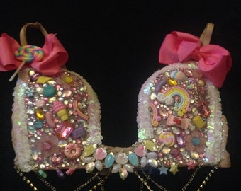 Candy queen rave bra