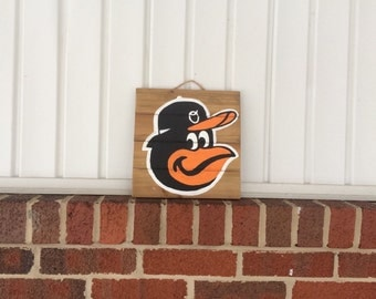 Baltimore Oriole's Wooden Sign