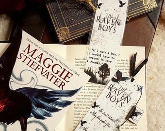 The Raven boys bookmark - Handmade