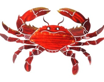 Next Innovations Crab Refraxions 3D Wall Art, Orange