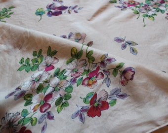 Vintage silk floral art work print scarf