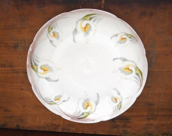 Vintage Decorative Plate - Calla Lily Plate - Wall Collage