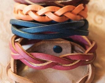 Braided Leather Bracelets