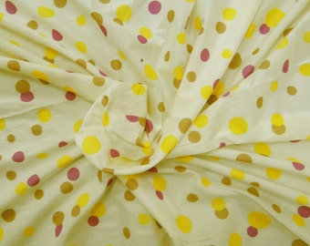 """Polka Dot, Off White Fabric, Crafting, Dress Curtain Pillow Fabric, Sewing Supplies, 50"""" Inch Cotton Fabric By The Yard ZBC1185"""