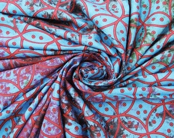 Indian Cotton Fabric Sewing Pillow Dress Cotton Tie Dyed Print Indian Fabric For Sewing Craft Material Dressmaking Fabric By 1 Yard ZBC1576