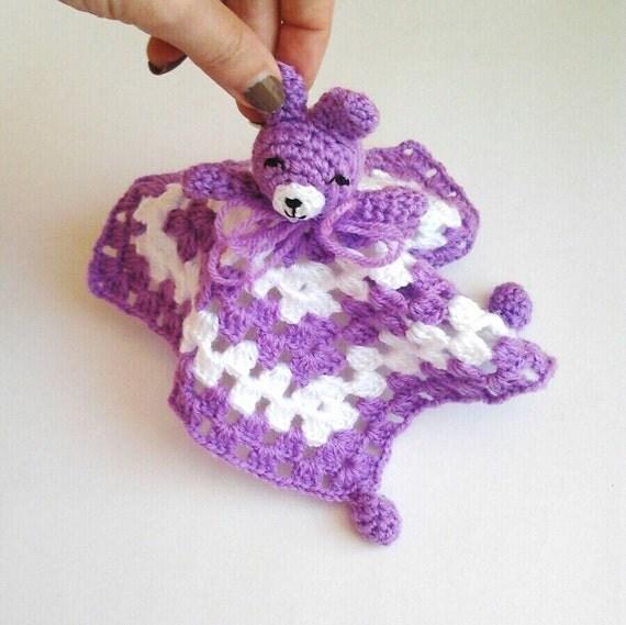 Amigurumi Baby Blanket : Bear Amigurumi Baby Security Blanket Bear Toy Snuggle by ...
