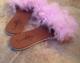 Fluffy feather slides