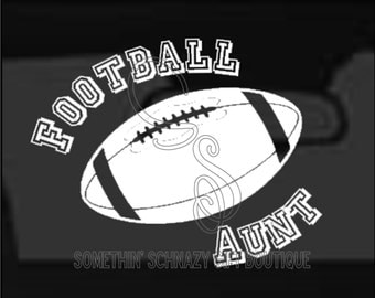 Football Aunt Car Vinyl Decal, Laptop Decal, Tablet Decal, Car Window Sticker, Tablet Sticker, Decal Sticker, Foot ball Aunt, Gift for Her