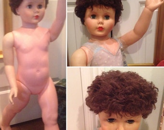 """RESERVED 1960 Vogue Ginny 36"""" inch Doll by Model Plastic   Patti Playpal type/Rare / Great condition   Comes with more clothes & accessories"""