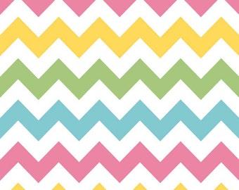 Girl Chevron Medium by Riley Blake Designs - Pastel - C320-03 - 100% Cotton Woven Quilt Fabric - by the yard fat quarter half