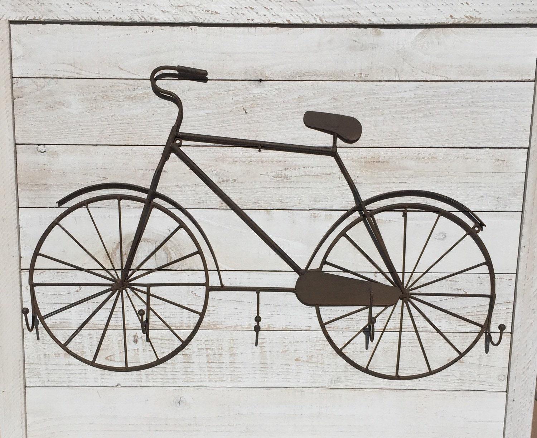 Bicycle Metal Wall Decor Hooks Coat Rack Hat Rack Beach