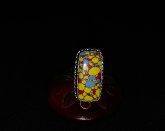 Mosaic Jasper Ring Size 6