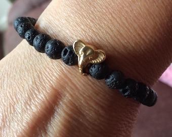 Volcanic lava bracelet