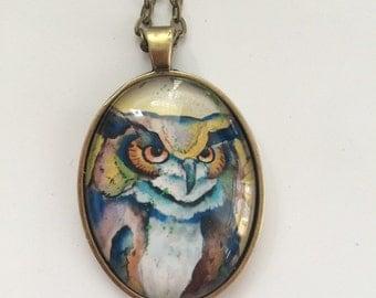 Wisdom Pendant- Wearable Original Artwork
