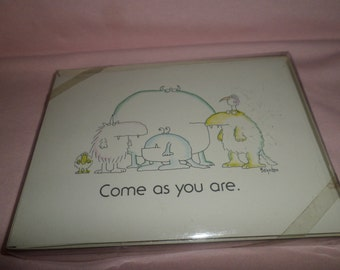 Vintage Sandra Boynton Card lot Invitations Come As You Are Monsters Animals 1979