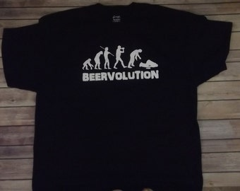 Beer volution  T-shirt Funny Cool all sizes and color 100% cotton print