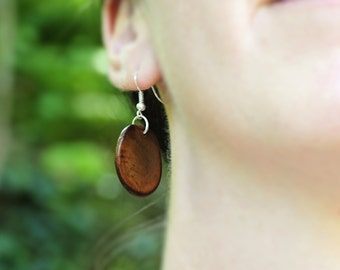 Seed earrings, natural seed earrings, organic seed earrings, boho chic natural seed dangle earrings, unique natural seed jewellery