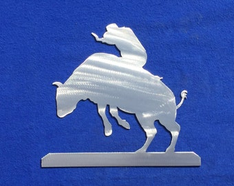 Bull rider Metal Wall Decoration w West 5 Skilwerx house home garden cowboy