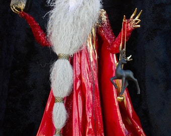 Santa Claus - ooak hand made christmas sculpture