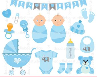 Baby Clothes Banner Clipart Baby Boy Clip Art Bunting