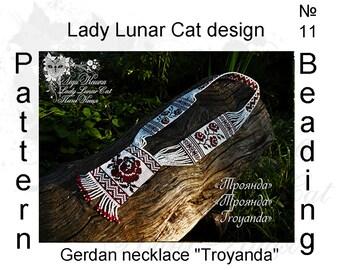 Gerdan patterns,  Necklace patterns, Herringbone stitch patterns, Ukrainian patterns, Roses patterns, Summer patterns, Jewelry patterns