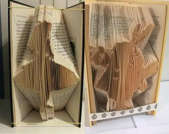 Alice in Wonderland and White Rabbit Book Folding Patterns (measure mark and fold)