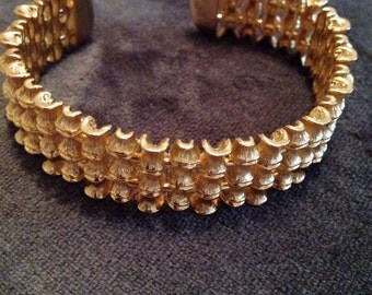 Vintage gold cuff bracelet