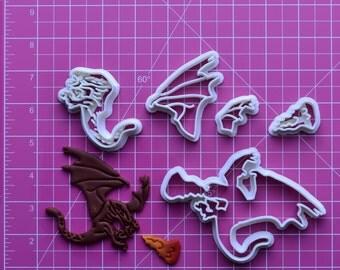 Dragons  Fondant Cutter  dragons breath opal,dragons breath,dragons blood,dragons breath ring,dragons and beasties,dragons breath opal ring,