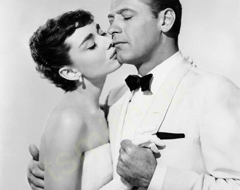 Audrey Hepburn and William Holden Sabrina B/W 8x10 Photograph