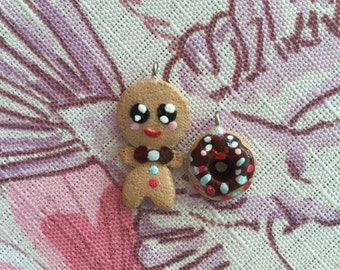 Gingerbread man, Christmas, kawaii,