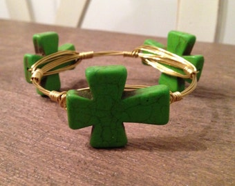 Green Cross Bangle