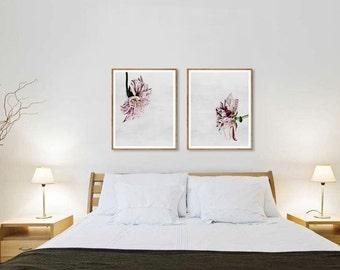Flowers print, Plant print, Minimalistic, Modern art, Wall decor, Digital art, Printable, Digital poster Instant Download 11x14, 16x20