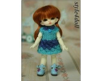Handmade  style4doll  knitting dress for Puki Puki & Lati White SP (size 11-12 cm)