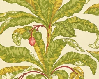 Wallpaper-Schumacher BLAIR HOUSE PALM Double Rolls Vanilla/Aqua/SeaBreeze/Tropical