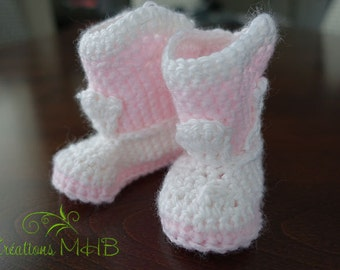 Baby Pink and white slippers