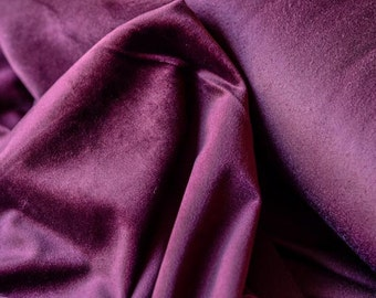 Purple Cotton Velvet Fabric