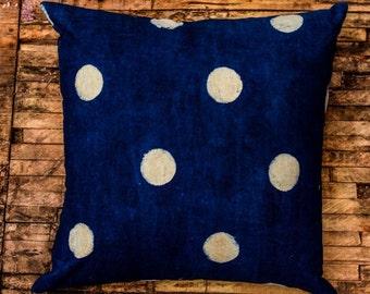 Indigo Block Print Pillow