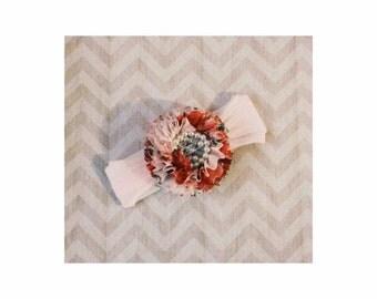 Shabby Chic Flower Baby Headband