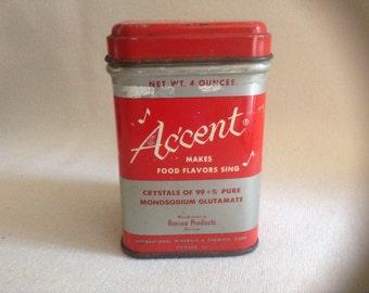 All Metal Accent Flavor Enhancer Tin