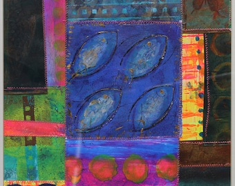 The Lochan - mixed media painting