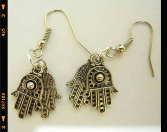 Handmade earrings hand of fatima
