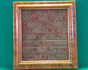 Vintage Needlepoint Scottish Sampler c.1840