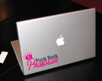 Punk Rock Princess  / Laptop Vinyl Sticker Decal / Something Corporate Fans! / Laptop Decal- Car Decal- Computer Decal- Sticker