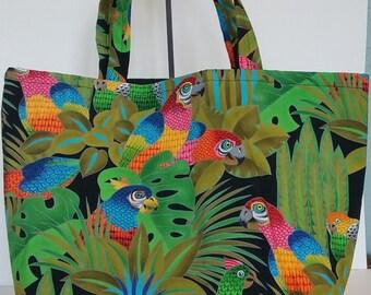 Tropical Birds tote