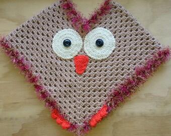 Crochet Toddler Owl Poncho
