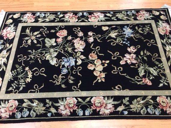 4' x 6' Sino Chinese Oriental Rug - Wool & Silk Pile - Hand Made
